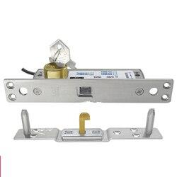 Fail secure Multimedia podium lade kast elektronische slot schuifdeur haak elektrische strike slot met sleutel Power op unlock