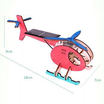 DIY Mini Solar Plane Assembled Toy Kids Handmade Science Experiment Interesting Invention Educational Toy Plane for Kids Gift 5