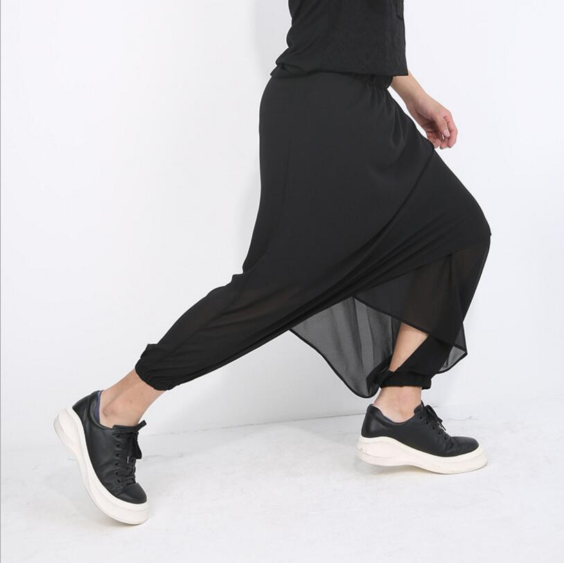 Nouveau Pantalon Chanteur Dj Costumes Plus Baggy Taille Entrejambe Mode Culotte La Hommes Noir Styliste Harem Vêtements 2017 De Cheveux vgYfyb76