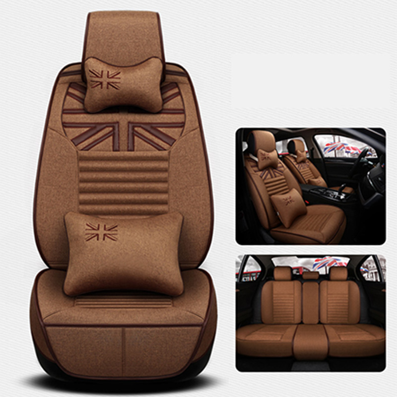 Front+back Flax Universal Car Seat Cover for benz mercedes w163 w164 w166 w201 w202 t202 w203 t203 w204 w205 car accessories цена