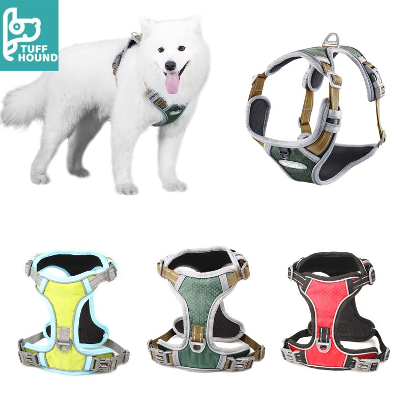 Night Reflective Dog Harness for Puppy Small Medium Big Dogs Collar All-weather Sports Training Pet Harnesses Husky Chest Strap Собака