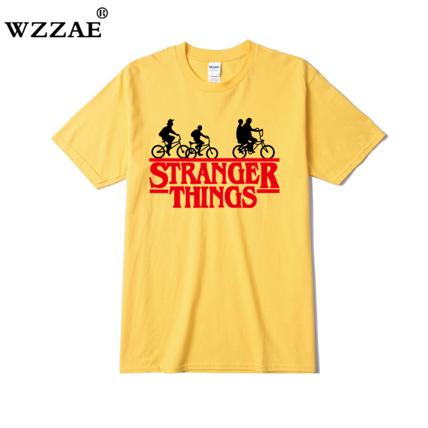 New 2019 Stranger Things   t     shirt   Women/Men Short Sleeve Cotton   Shirt   Man Fashion Tops Tees Men's summer Hip-hop   T  -  shirt