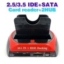 """ทั้งหมดใน1 2.5 """"3.5"""" IDE SATA HDDฮาร์ดไดรฟ์ดิสก์โคลนผู้ถือท่าเรือสถานีเชื่อมต่อ"""
