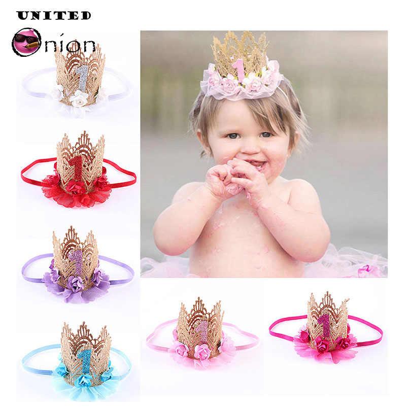Detail Feedback Questions about Baby Infant Little Prince Princess Crown  Headdress Birthday Hat 1st First Headband Headwear Flower Newborns Gift  Play Mats ... a3aee22df24