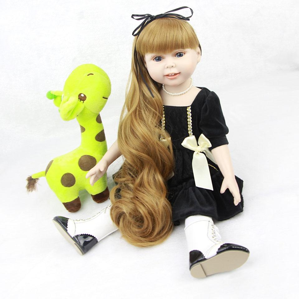 18 Full Body Vinyl American Girl Realistic Reborn Baby American Dolls Cute Princess Free ...