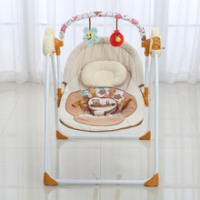 2018 Fashion Baby Swing Electric Baby Cradle Swing Rocking Remote controller Chair Sleeping Basket Bed Crib For Newborn Infant(China)