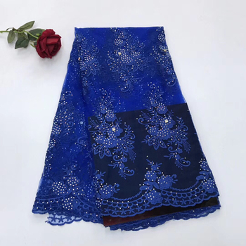 african material swiss voile lace embroidery fabric with stones in switzerland tissu broderie africain suisse for wedding LJ2429