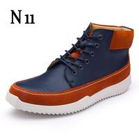 2017 New Kanye West Vintage Style Chelsea Boots Top Quality Leather Suede Men Shoes Luxury Brand