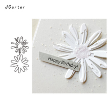 JC Metal Cutting Dies for Scrapbooking Cut Happy Birthday Flowers Craft Stencil Handmade Paper Card Making Model Decoration
