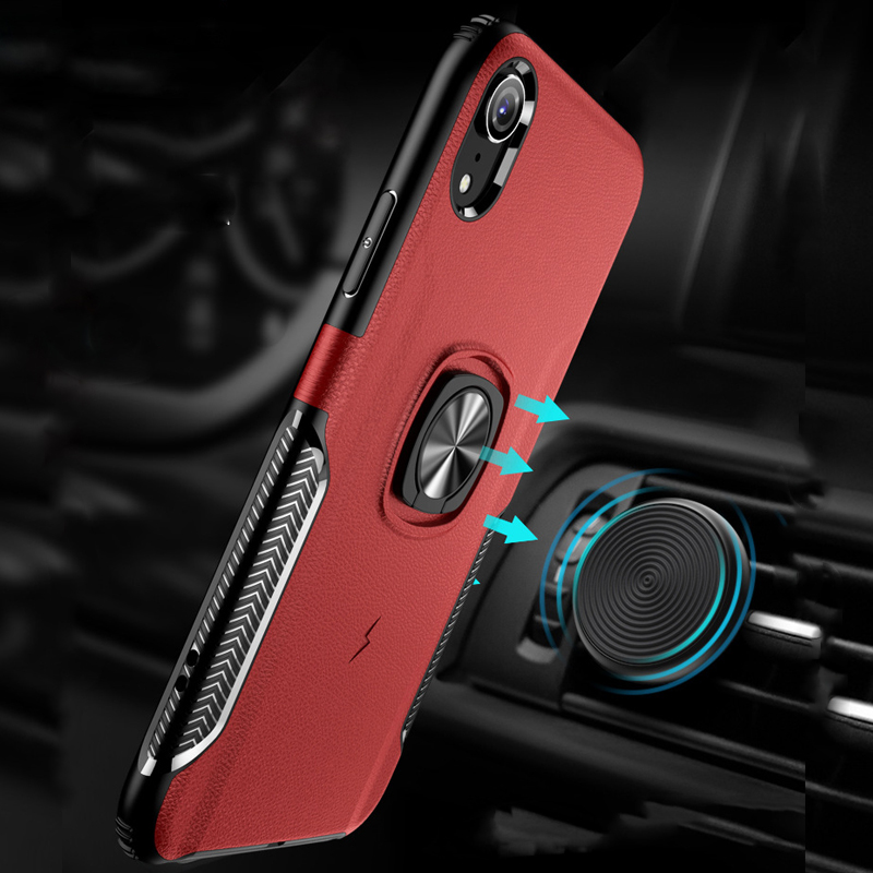 XR XS Invisible Bracket Cases for iPhone XS 10S Max XR 8 7 6 6S Plus Case Finger Ring Armor Anti-knock Cover for iPhone X 10 S R iPhone XS