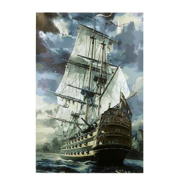 No Frame Ship Diy Painting By Numbers Kits Oil Painting On Canvas