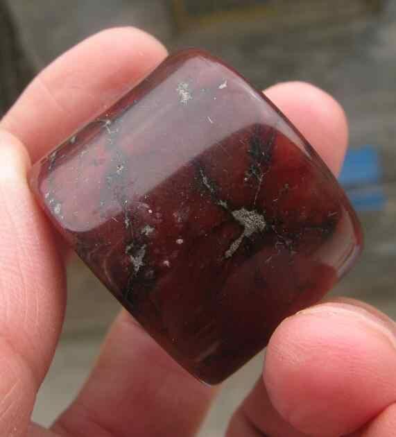 วินเทจโบราณสีแดงธรรมชาติหยกมือแกะสลักแหวนนิ้วหัวแม่มือsize13.5คลาสสิก