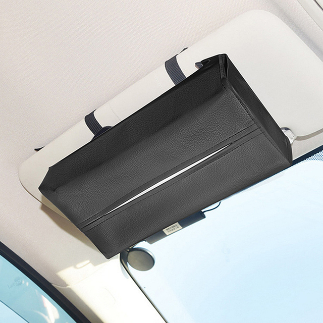 Car Interior Accessories Tissue Box Leather Portable Car Tissue Storage Box Cover Convenient Car Styling Container Napkin Holder