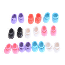 5Pairs Kelly Doll Confused Doll Shoes Kids Gift Toy 12cm best gift for girl Doll Shoes Accessories(China)