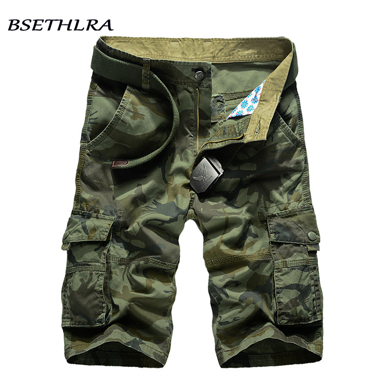 BSETHLRA 2017 New Cargo Shorts Men Summer Top Design Camouflage Military Casual Shorts Homme Cotton Fashion