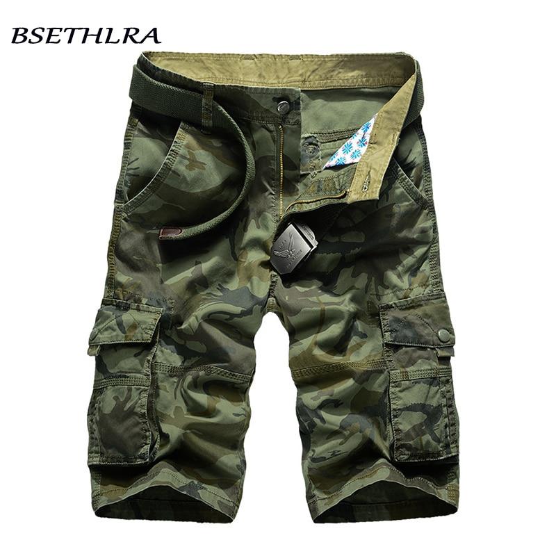 BSETHLRA 2018 Neue Cargo-Shorts Männer Sommer Top Design Camouflage Militär Casual Shorts Homme Baumwolle Mode Marke Kleidung