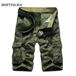BSETHLRA 2019 جديد البضائع السراويل الرجال الصيف أعلى تصميم التمويه العسكرية عارضة السراويل أوم القطن أزياء العلامة التجارية الملابس