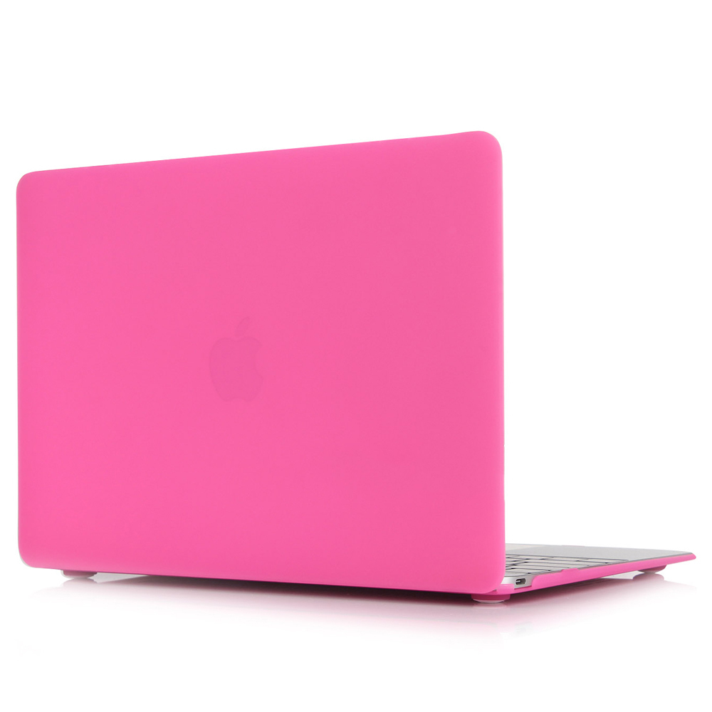 Matte Rubberized Hard Case Cover For Macbook ProLaptop Shell- 12 Inch Rose Red