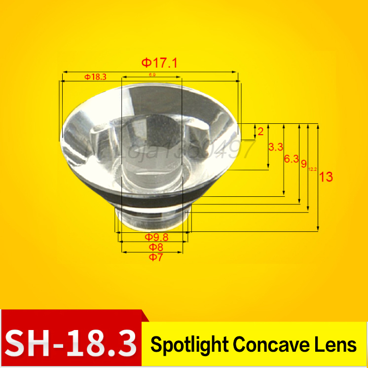 20mm Reflector Collimator LED Lens 15-120 Degree Optical PMMA for LED Lamp Bulb
