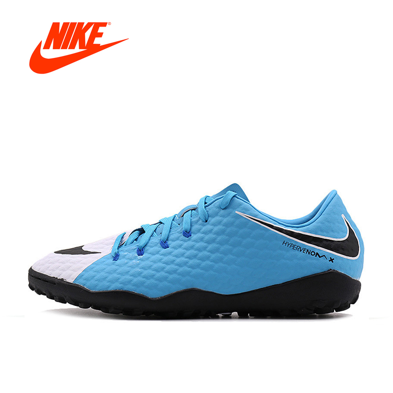 где купить Original New Arrival Official Nike HYPERVENOMX PHELON III TF Men's Football Soccer Shoes Sports Sneakers дешево