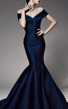 High Quality Custom Made Mermaid Prom Dresses 2014 Hot & Sexy Royal Bule vestidos de fiesta Special Occasion CH-120