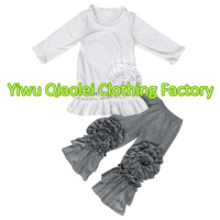New Design Floral Design Outfits Baby Girl Boutique Autumn Outfits