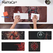 лучшая цена MaiYaCa Cool New Deadpool iron Man Comfort Mouse Mat Gaming Mousepad Free Shipping Large Mouse Pad Keyboards Mat