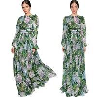 100% silk robe femme ete 2017 plus size xs 5xl 6xl,amazing printing boho dress elegant maxi dress ladies beach party long dress