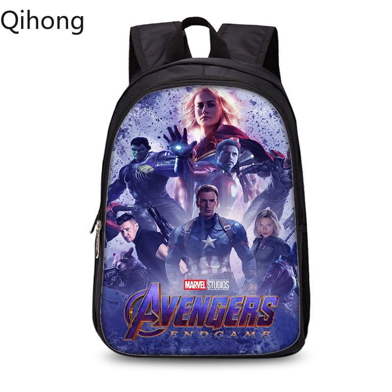 Avengers 4 Endgame Quantum Realm Backpack bookbag knapsack traveling bag laptop shoulders bagpack Qihong image