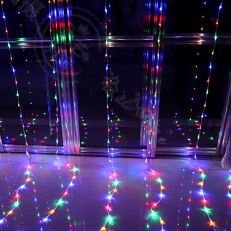EU US Plug 3 m * 3 m 300 LED String Fairy Gordijn Licht Guirlande - Vakantie verlichting - Foto 4