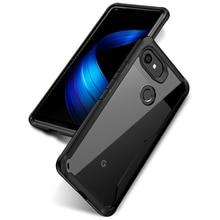 Мягкий Силиконовый ТПУ Рамка прозрачный акриловый задняя крышка для Google Pixel 2 2 XL чехол 360 ударопрочный тяжелый защитный чехол