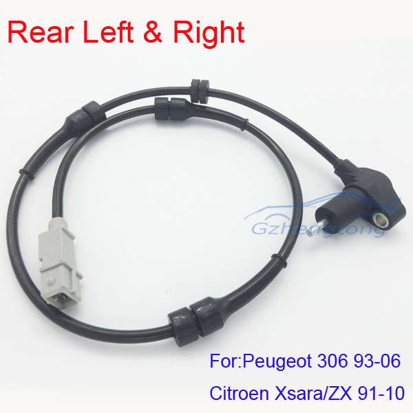 New ABS Wheel Speed Sensor Rear Left and Right  for Peugeot 306 / Citroen Xsara ZX Hight Quality and Free Shipping