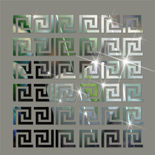 10pcs/set  DIY Geometric Pattern Acrylic Mirror Effect Sticker Wall Surface Stickers Home Decoration 10cm