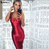2017 Sexy Party Dress Black Sequined Deep V Neck Hollow Out Full Sleeved Split 2 Sides