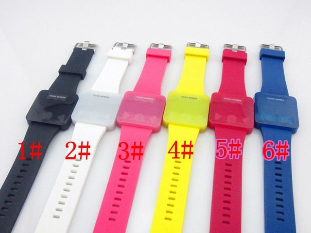 NEW model 2012 hot selling LED watch silicone Touch Screen  watch 5PCS/lot free shipping by china post