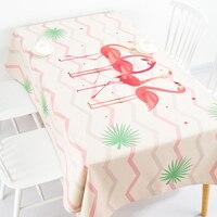 European Style Cotton Linen tablecloth Pink Flamingo Coffee Table Cloth Rectangle Tablecloth Wedding Party Restaurant Decoratio