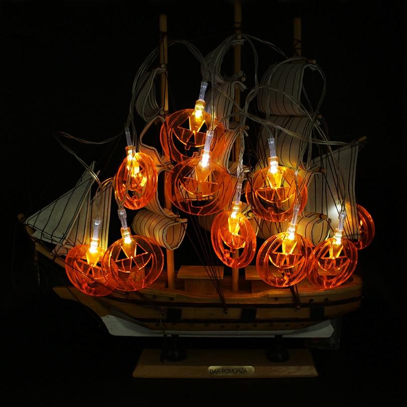 Halloween Pumpkin LED String Lights Battery Operated 2M 10 LEDs Pumpkin Lights Halloween holiday Christmas Decoration Lights