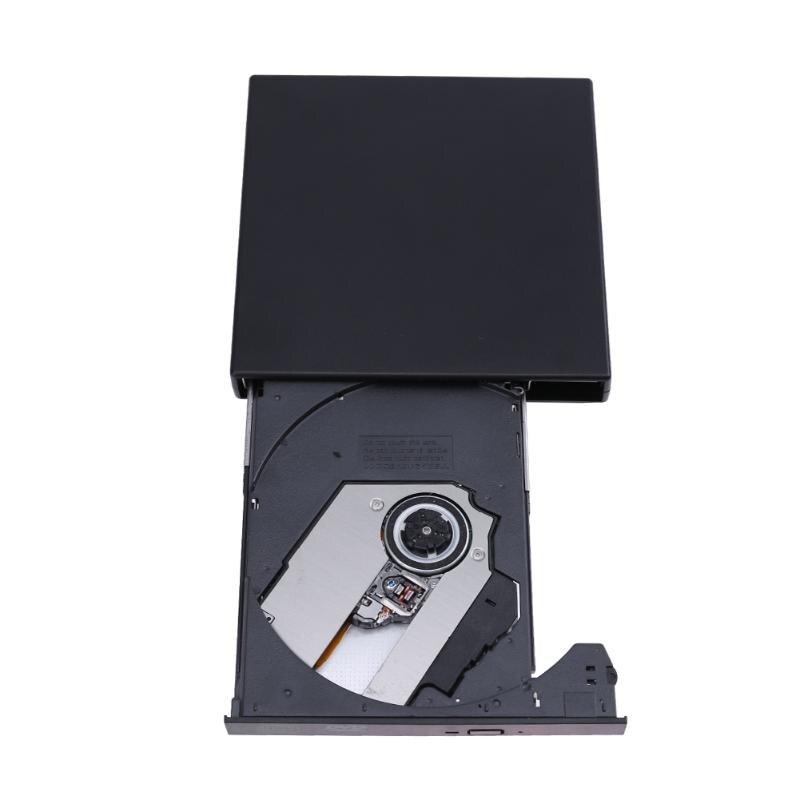 VAKIND USB2.0 Externe CD-RW Graveur Lecteur CD DVD ROM Combo Graveur CD 24X Pour Ordinateur Portable Notebook PC