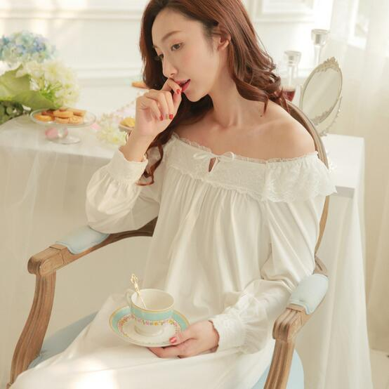 Long nightgowns for women sexy white