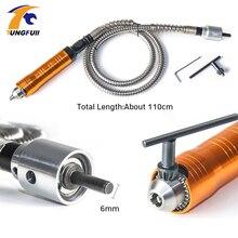 Tungfull Flexible Flex Dremel Dreh Werkzeug Elektrische grinder flexible welle verlängerung linie 6mm bohrfutter gravur maschine schlauch