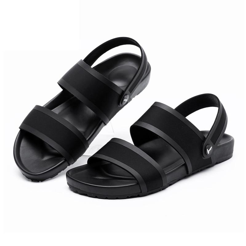 Sapatos deslizamento Preto Black Da Tamanho Do Verão Ds8801 De Casuais Moda Chinelos Não Macios 44 Nova Confortáveis Borracha Dos Praia Sandálias Sola 2018 Homens 38 azwSqz