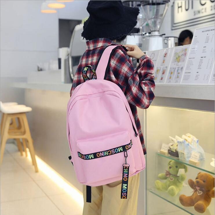 Japanese Cute Ear Canvas Girl Street Shooting Student Bag Casual Large Capacity Travel Backpack Laptop Backpack Teen Backpack Luggage & Bags