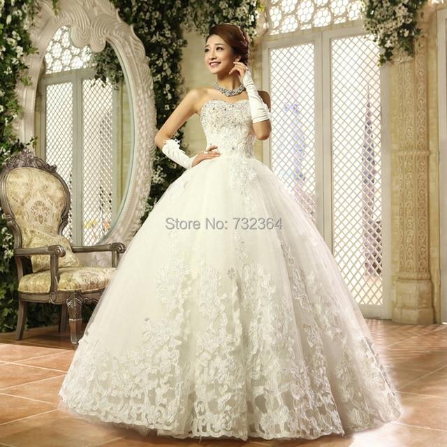 833cdfd6f4f luxury lace flower rhinestone beading petal decoration medieval princess  wedding dress