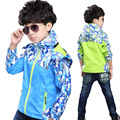 New Boys Jacket Outdoor Children Clothing Windbreaker Waterproof Coat Trench Sport Pizex Outerwear 4-13 Years old Kids Clothes