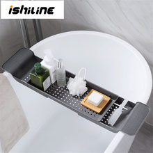 Bathtub Storage Rack Bath Tray Shelf Shower Tub Bathroom Tools Makeup Towel Organizer Plastic Kitchen Sink Drain Holder(China)