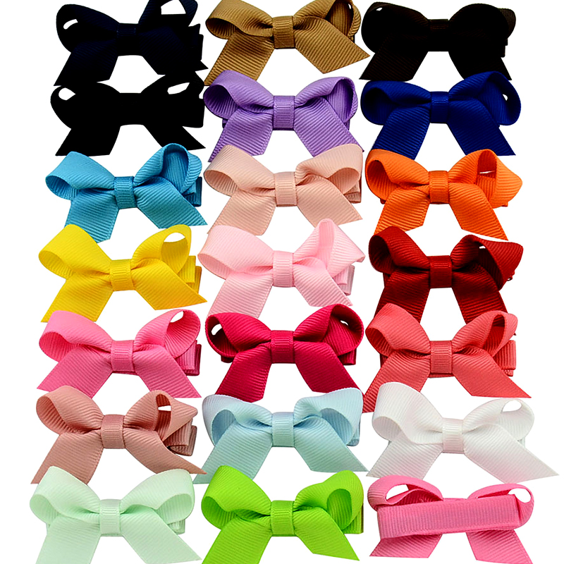 10Pcs 2.2Inches Bebe Girls Colorful Mini Bowknot Hair Clip Kids HairBows Ribbon Bow Boutique Top Bow Barrettes Princess Headwear halloween party zombie skull skeleton hand bone claw hairpin punk hair clip for women girl hair accessories headwear 1 pcs