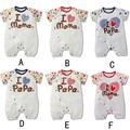 2017 Baby Rompers Summer Short Sleeve 100% Cotton Newborn Baby Clothes Baby Costumes Newborn Baby Boy Clothes Girls