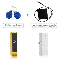 125khz lock drawer lock magnetic Smart Keyless electronic Cabinet door lock with external power supply Silver color