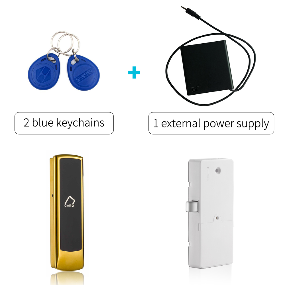 125khz lock drawer lock magnetic Smart Keyless electronic Cabinet door lock with external power supply Silver color panlongic 16mm 735 s1601 type 250v 1a electronic lock key switch phone lock double pull power supply lock power lock