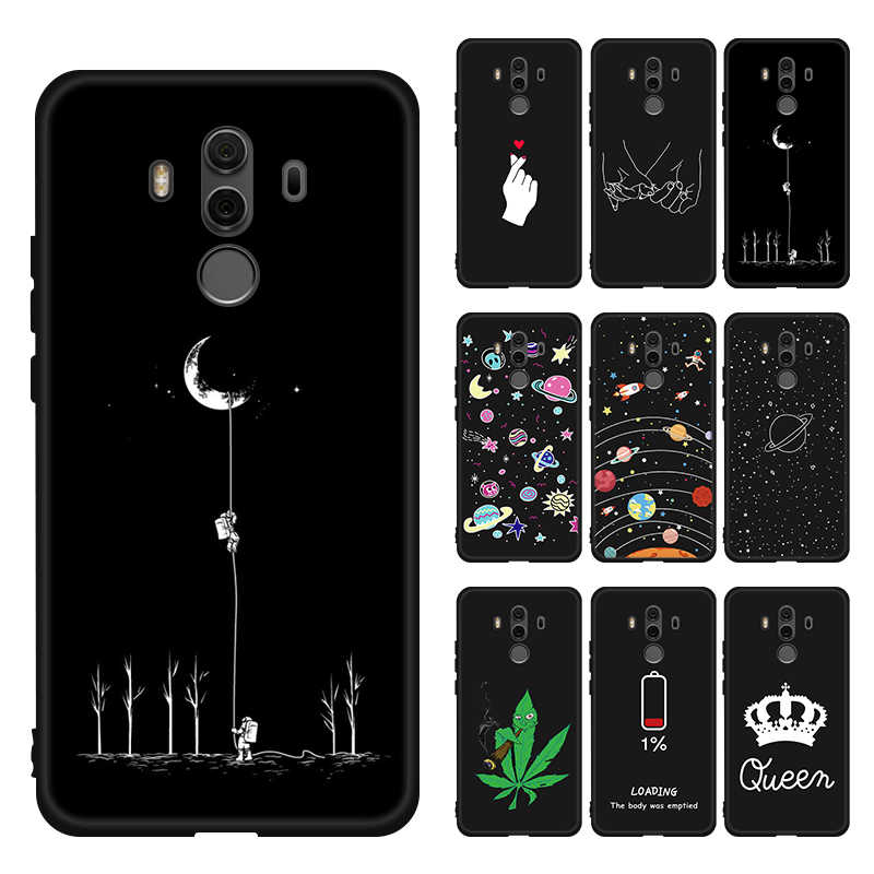 Silicone TPU Pattern Printed TPU Case For Huawei Mate 20 Pro Mate 10 Lite Matte Slim Cover for Huawei Mate 20 X Mate 20 Pro Capa